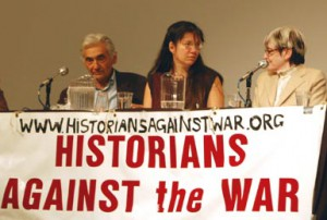 "Photo of ""Historians Against the War"" panel."