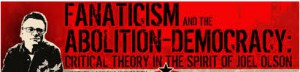 Flyer for Critical Theory conference in honor of Joel Olson