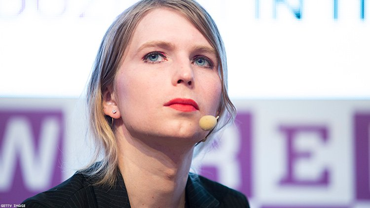 Image of Chelsea Manning looking into the camera